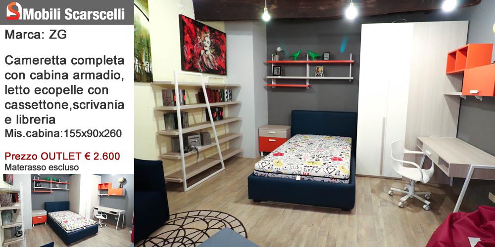 Cameretta Zg - completa con cabina armadio scrivania e libreria